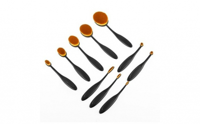 Set pensule ovale pentru machiaj