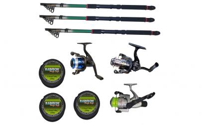 Set 3 mulinete pescuit sportiv