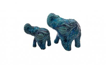 Bibelou set 2 elefanti din ceramica, 10