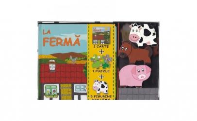 La Ferma - Set Puzzle Carte Figurine