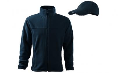 Hanorac bleumarin din fleece + sapca