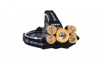 Lanterna Frontala cu 5 LED-uri 2000 Lume