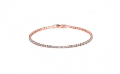 Bratara Tennis Rose Gold Plated 18K