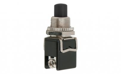 Buton 1 circuit 4A-250V ON-(OFF), negru