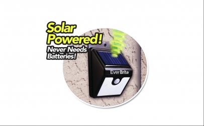 Lampa Led cu incarcare solara si senzor