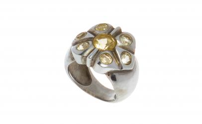 Inel din argint 925, model floral