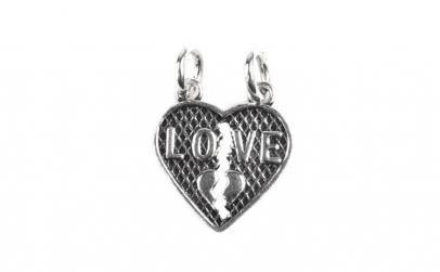 Pandantiv Inima (Doua Jumatati), Argint