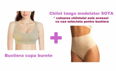 Bustiera cupa burete + Chilot tanga Sota
