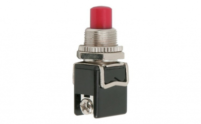 Buton 1 circuit 4A-250V ON-(OFF), rosu