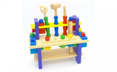 Banc de unelte din lemn + accesorii