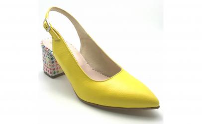 Pantofi decupati vdm021 galbeni