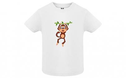 Tricou fete Monkey, Bumbac 100%,