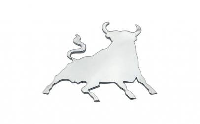 emblema metalica cromata Taur