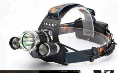 Lanterna Frontala cu 3 LED-uri CREE XM-L