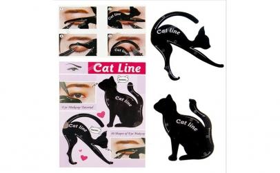 Sablon contur ochi - Cat line