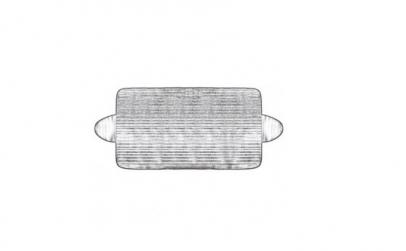Folie antiinghet parbriz 175x90cm 3870c