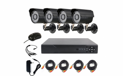 Sistem de Supraveghere 4 Camere Full HD