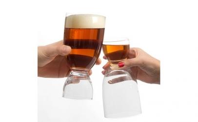 Pahar de Bere cu Pahar de Shot