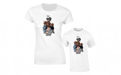 Set de tricouri pentru mama ?i copil