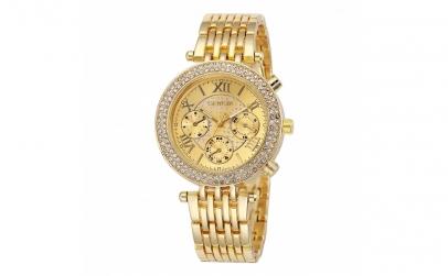 Ceas de dama Geneva Crystal Roman Gold