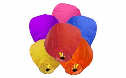 Pachet 20 Lampioane zburatoare colorate