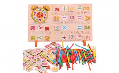Joc lemn Matematica 2 in 1