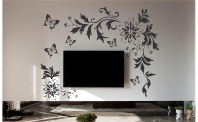 Sticker decorativ floral 200x150cm