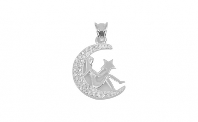 Pandantiv Semiluna Argint 925, 2 x 1.5