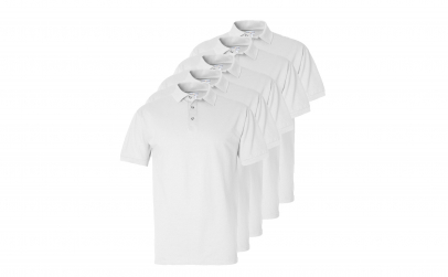 Set 5 tricouri Polo Albe pentru Copii