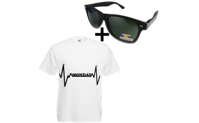 Tricou imprimat + ochelari de soare