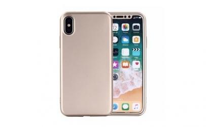 Husa 360 Silicon iPhone X / 10 - Auriu