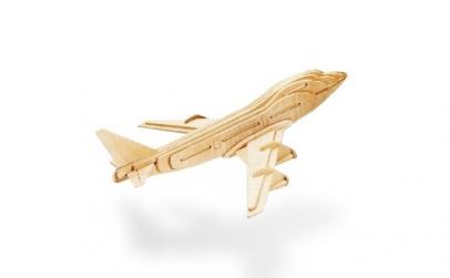 Puzzle din lemn avion