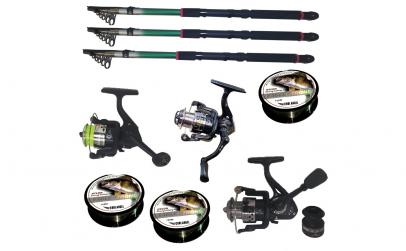 Set pescuit cu 3 lansete de 3.6m