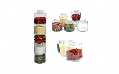 Set pentru condimente cu 6 recipiente