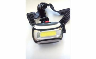 Lanterna frontala cu LED-COB 3W, baterii