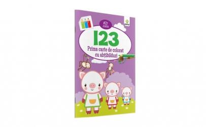1 2 3 - Prima Carte De Colorat Cu