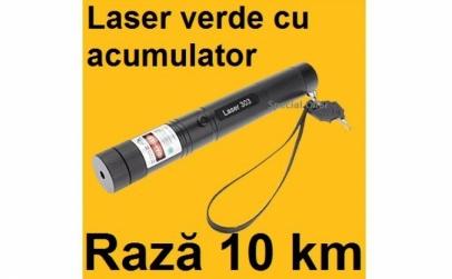 Laser verde puternic cu acumulator
