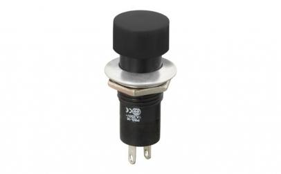 Buton 1 circuit 1A-250V OFF-(ON), negru