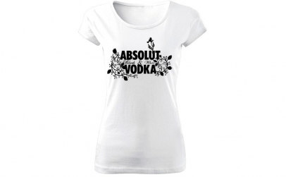 Tricou de dama ALB Absolut Vodka COD