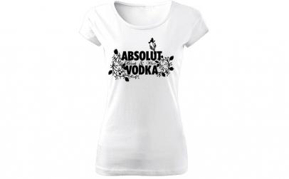 Tricou de dama ALB Absolut Vodka COD