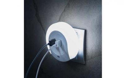 Adaptor incarcator USB cu LED 2 în 1