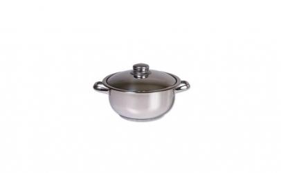 Oala inox cu capac, Cocinera,20 cm, 2 L,