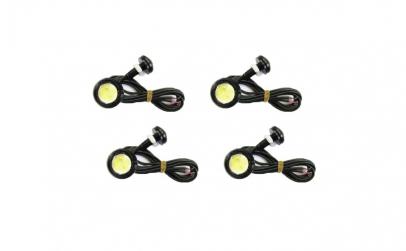 Set 4 LED-uri auto 3W fiecare