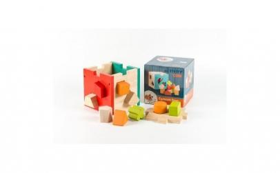 Cub montessori cu forme si culori