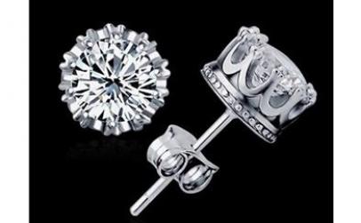 Cercei de argint cu cristale