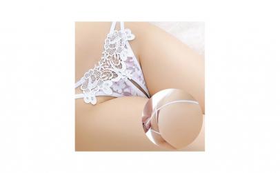 Lenjerie alba cu dantela pentru femei