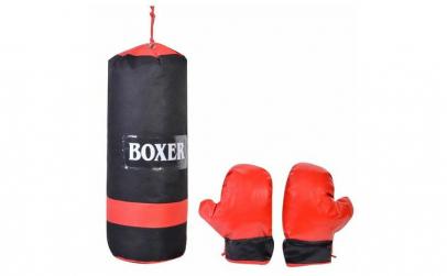 Set sac + manusi de box, pentru copii