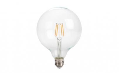 Bec cu LED Filament E27 G125, 4W