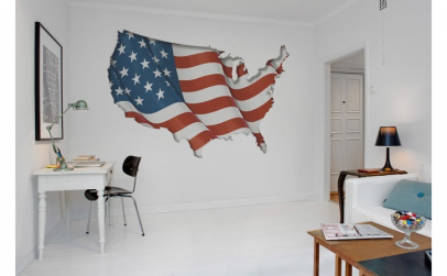 Fototapet Steag harta Statelor Unite