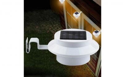 Lampa solara de gradina, alb, 2 bucati